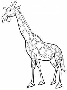 jirafa colorear