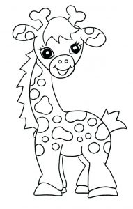 jirafa dibujo animado