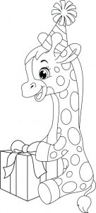 jirafa en dibujos animados