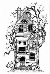 juegos de pintar casas embrujadas