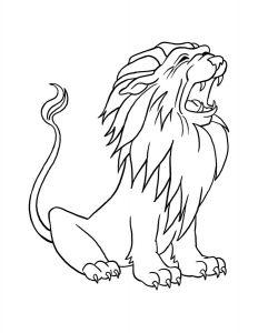 leon dibujo animado
