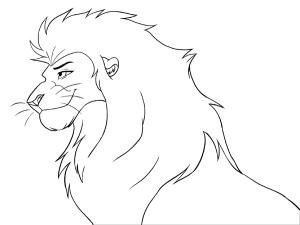 leon para dibujar facil