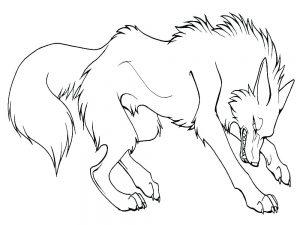 lobo caricatura