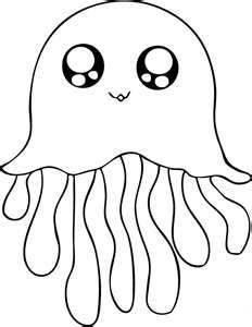 medusa de mar dibujo