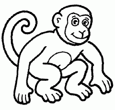 mono para colorear