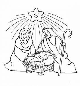 nacimiento del niño jesus para niños