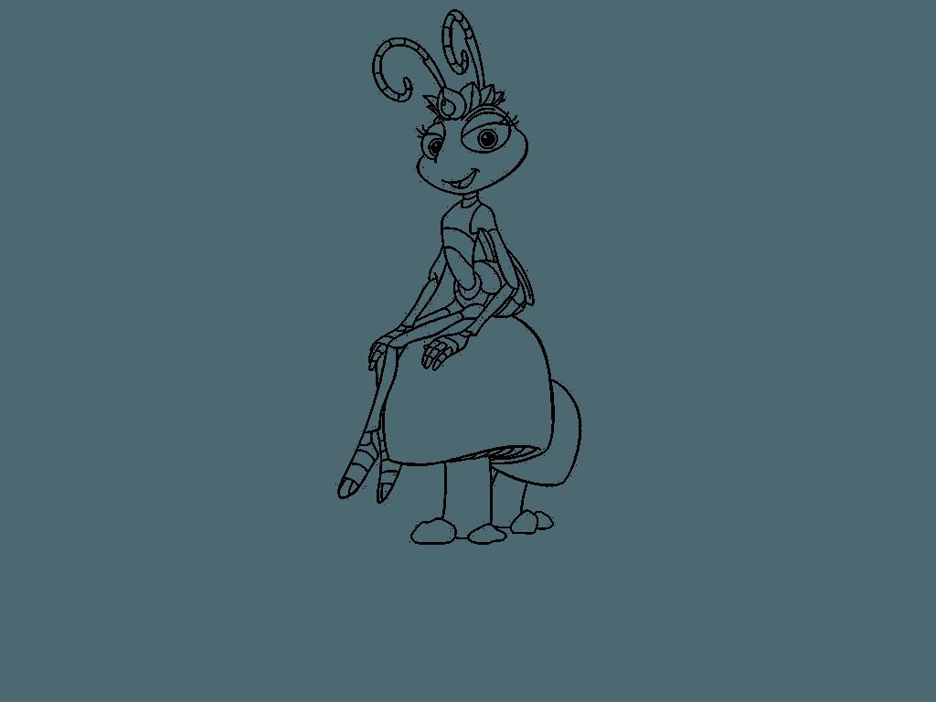 una hormiga para dibujar