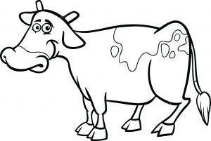 una vaca para dibujar
