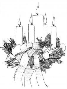 velas para corona de adviento