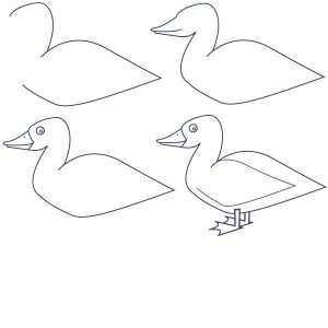 un pato animado