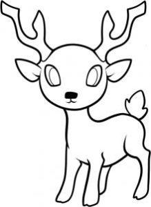como dibujar un ciervo paso a paso
