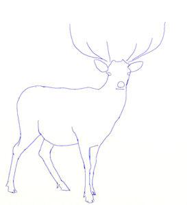 figura de ciervo