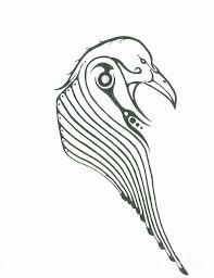 imagen de cuervo para colorear
