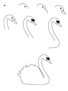 imagenes de cisnes en forma de corazon