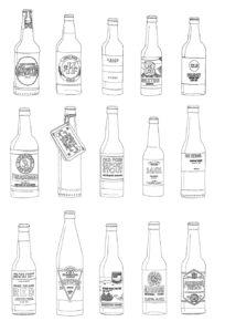 botella de cerveza dibujo