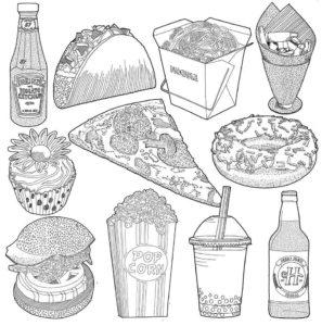 comida dibujos animados