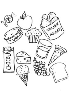 dibujo del dia de la alimentacion