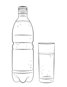 gota de agua para colorear