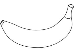 imagen de un platano para colorear