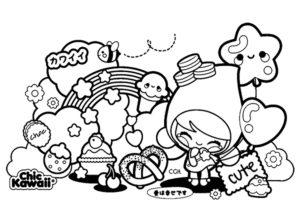 muñecas kawaii para dibujar