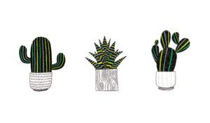 cactus dibujo animado