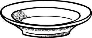 como dibujar un plato de comida