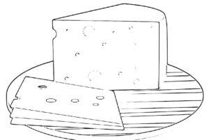 como se dibuja un queso