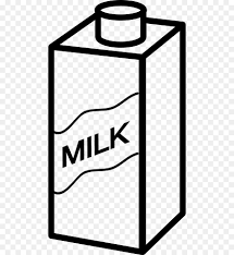 dibujo caja de leche
