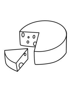 dibujo de queso para colorear