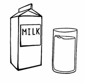 dibujo de un litro de leche