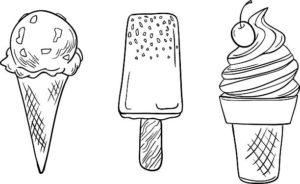 dibujos de helados tiernos
