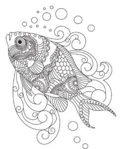 dibujos de pescados para niños