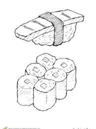 dibujos de sushi para colorear