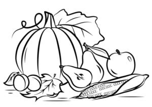 dibujos de vegetales para colorear