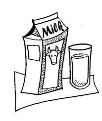 dibujos para colorear leche