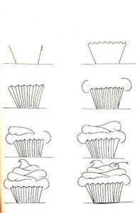 imagenes de cupcakes para colorear