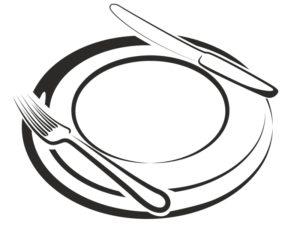 imagenes de platos para colorear