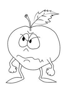manzana colorear