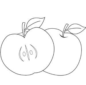 manzana dibujo animado