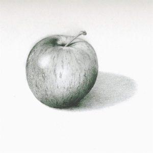 manzana verde dibujo