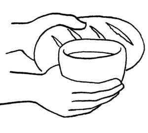 pan y vino dibujo