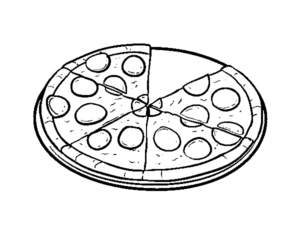 pizza dibujo para colorear