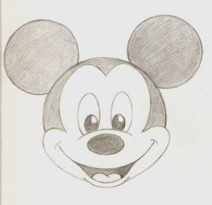 dibujar mickey mouse