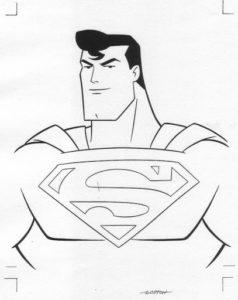dibujo colorear superman