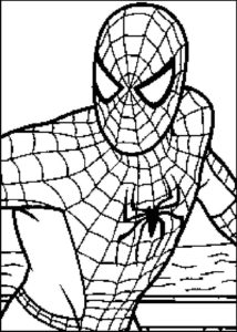 dibujo de hombre araña
