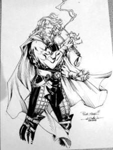 dibujo de martillo de thor
