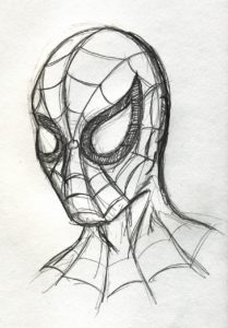 dibujo hombre araña