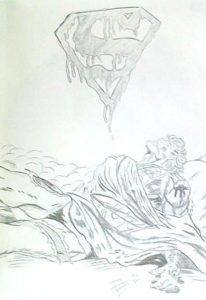 dibujo superman niño