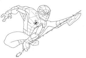 dibujos de hombre araña