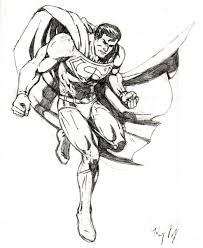 dibujos de superman a lapiz